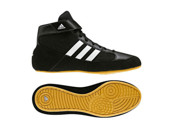 Adidas Junior Kids Havoc Boxing Wrestling Boots Black White
